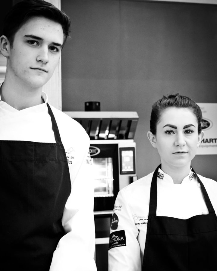 Ruth Hansom and her Commis Chef Ben Dullea
