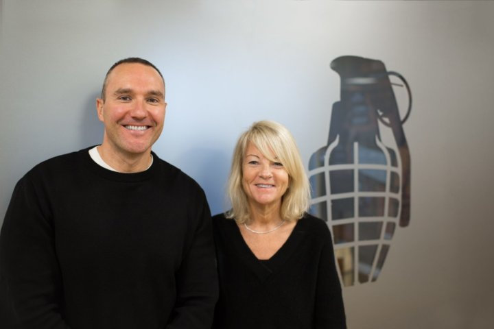 Juliet Barratt with her husband Alan Barratt co-founders of Grenade