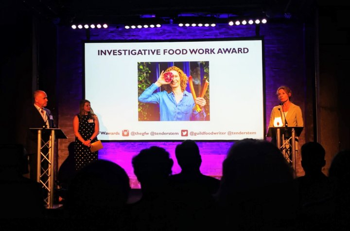 Bee Wilson at Guild of Food Writers Awards 2019