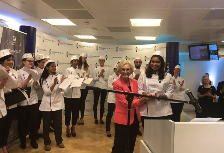 Bianca-Tia and Mary Berry at Julia Child Scholarship