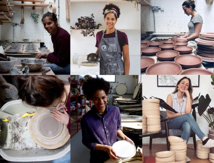Women Ceramicists Montage