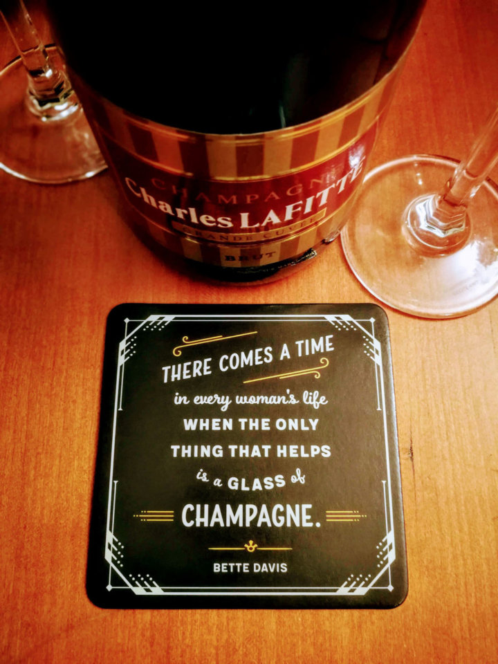 There comes a time in every woman's life when the only thing that helps is a glass of Champagne - Bette Davies