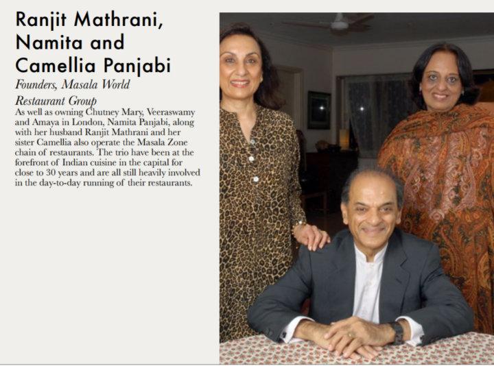 Ranjit Mathrani, Namita and Camellia Panjabi