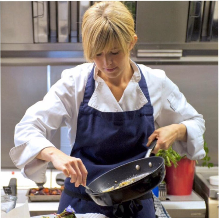 Emily Scott in the kitchen St Tudy Inn
