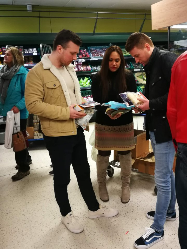 Sampling AirWrap in Tesco