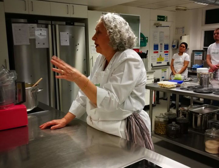 Ros Rathouse at Cookery School at Little Portland Street