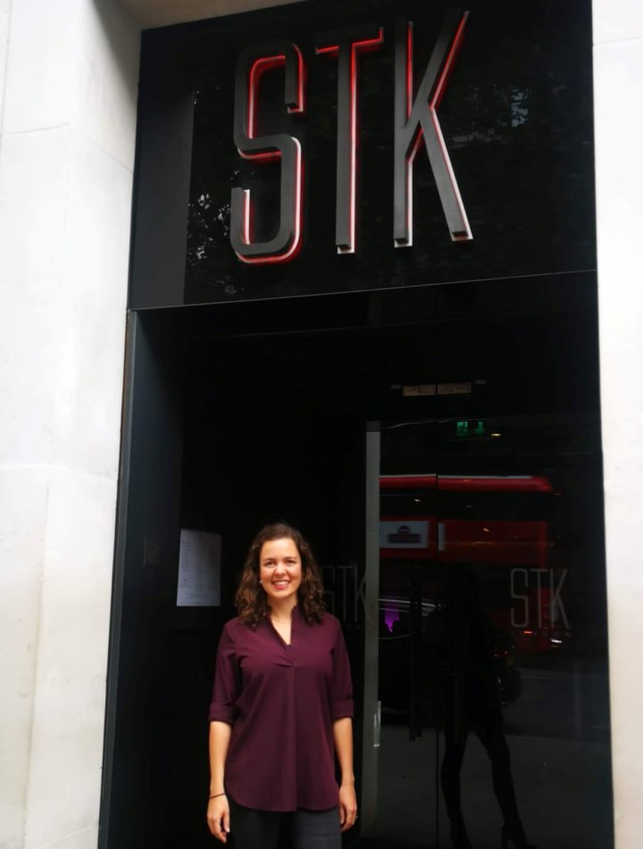 Katie Chesney at STK London