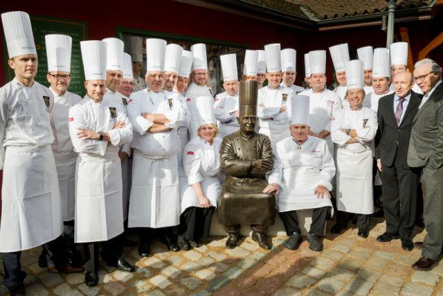 Lea Linster with Bocuse D'or Chefs