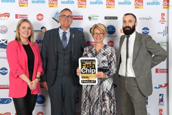 Loren Hiller at Fish and Chip Awards