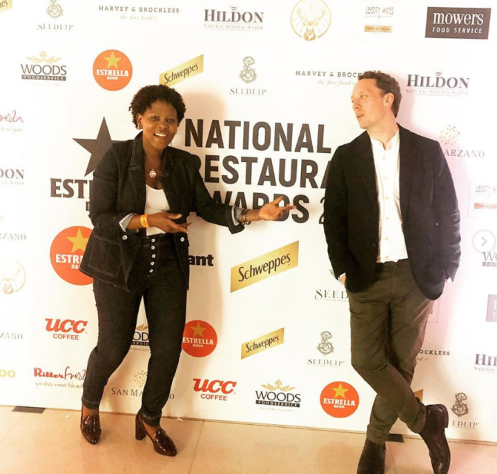 Nokx and Calum at the National Restaurant Awards - Holborn Dining Room