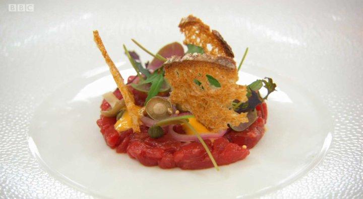 Olivia Burt's Steak Tartare on MasterChef The Professionals