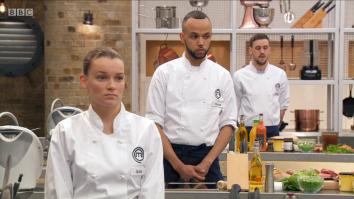 Olivia before the skills test MasterChef The Professionals