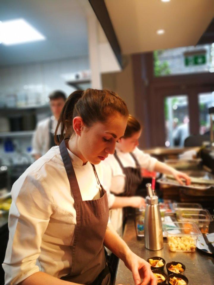 Ruth Hansom in Pomona's Kitchen