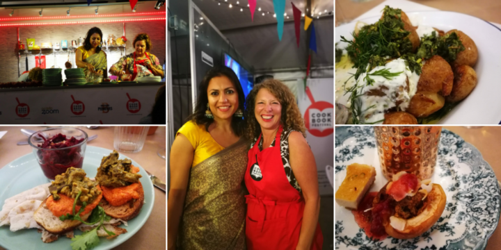 Pictures from Mira Manek Cookbook Festival Indian Feast