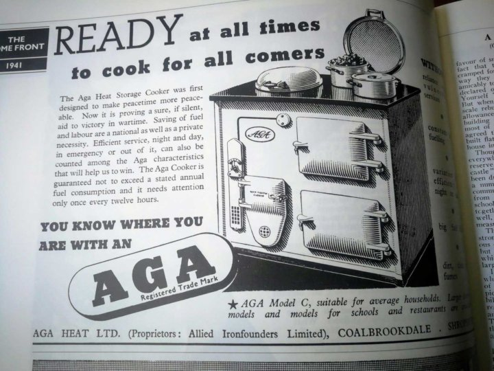 Wartime Aga Ad in Good Housekeeping