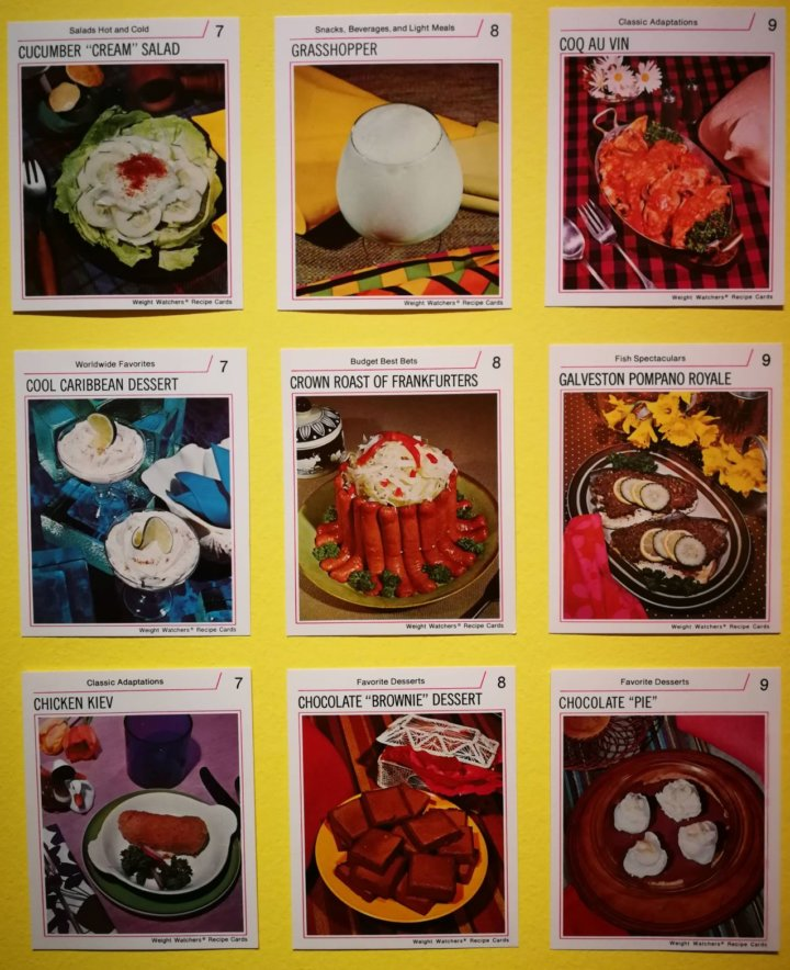 WeightWatchers Recipe Cards - Feast for the Eyes - Photographers Gallery