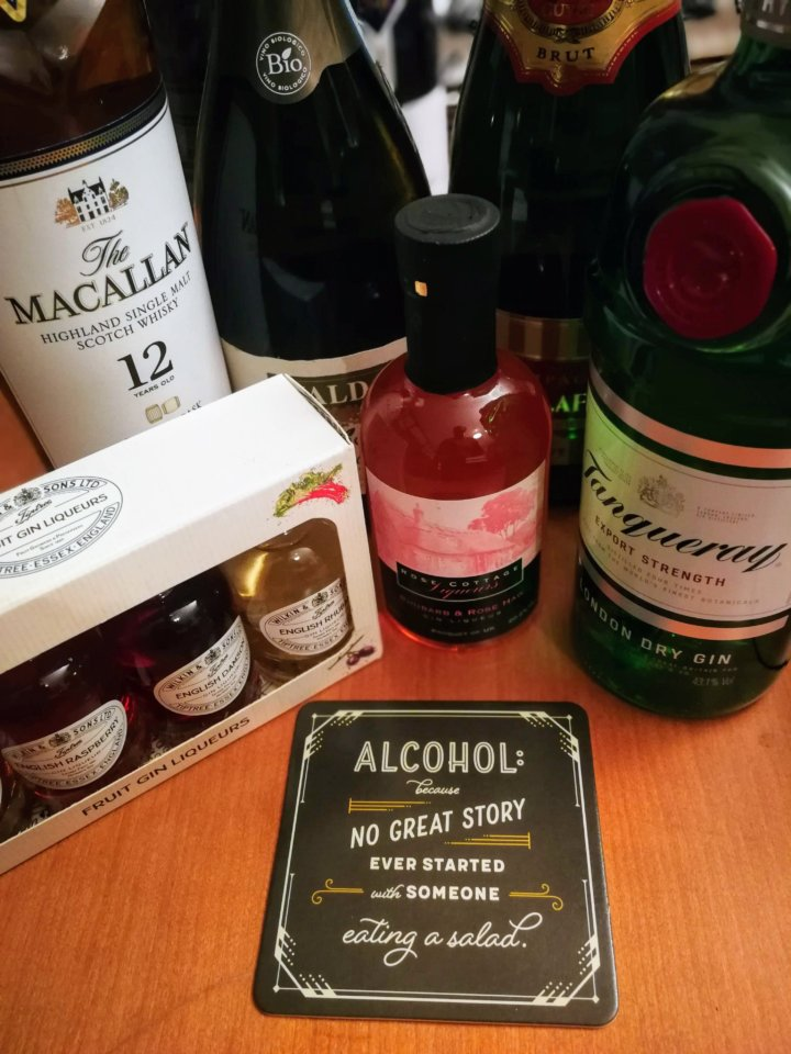 Spirits and wine that might make acceptable gifts for women