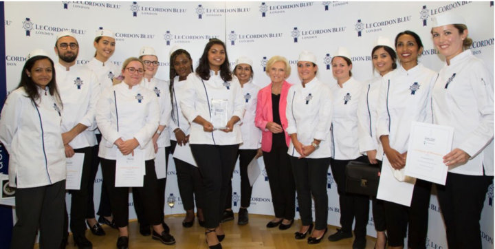 Winners and Finalists of The Julia Child Scholarship with Mary Berry