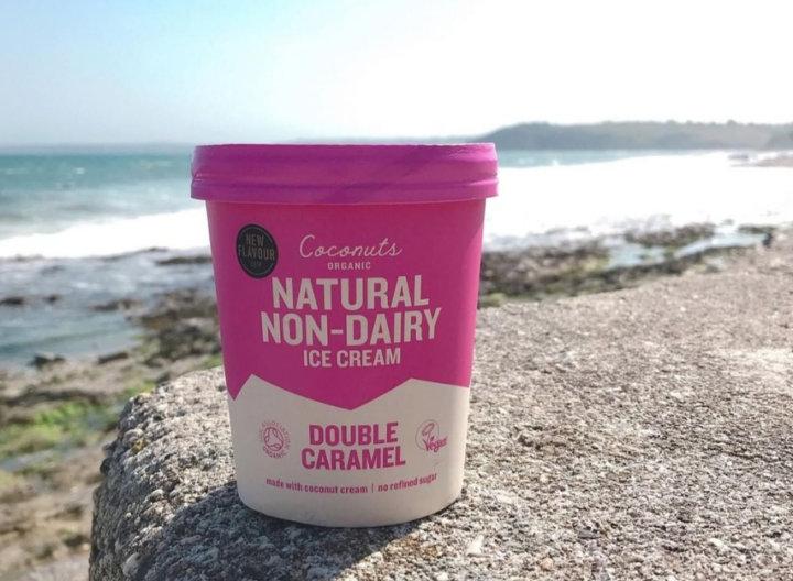 coconuts organic on beach